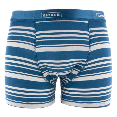 Kickee Pants Men's Print Boxer Brief - Fishing Stripe - Let Them Be Little, A Baby & Children's Boutique