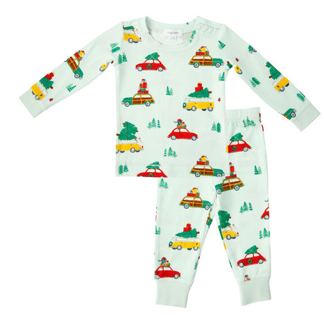 Angel Dear 2 Piece PJ Set - Cars with Trees