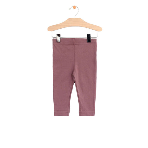 City Mouse Crop Legging - Dark Rose