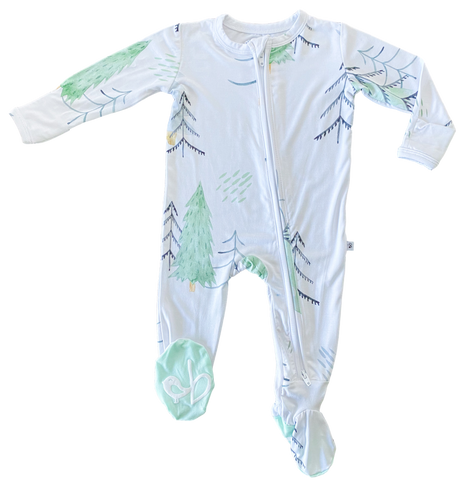 Birdie Bean Zip Footie - Aspen - Let Them Be Little, A Baby & Children's Boutique