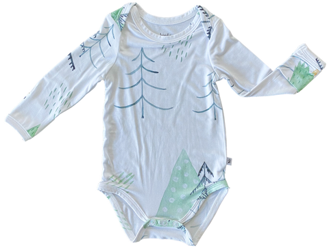 Birdie Bean Long Sleeve Onsie - Aspen - Let Them Be Little, A Baby & Children's Boutique