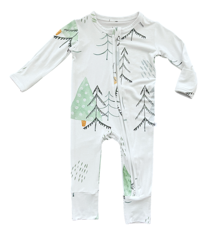 Birdie Bean Zip Romper w/ convertible footie - Aspen - Let Them Be Little, A Baby & Children's Boutique
