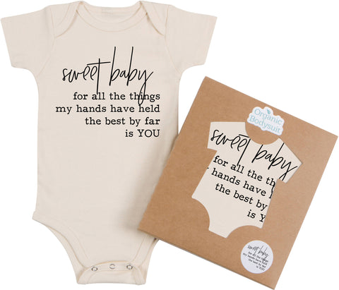 Morado Designs Organic Bodysuit/Tee - Sweet Baby - Let Them Be Little, A Baby & Children's Boutique