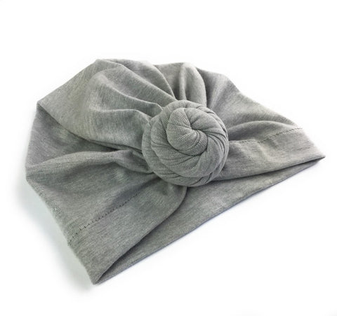 Baby Wisp Infant Turban Knot Hat - Grey