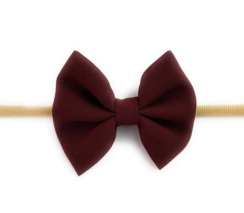 Baby Wisp Infant Headband Fanny Bow - Burgundy - Let Them Be Little, A Baby & Children's Boutique