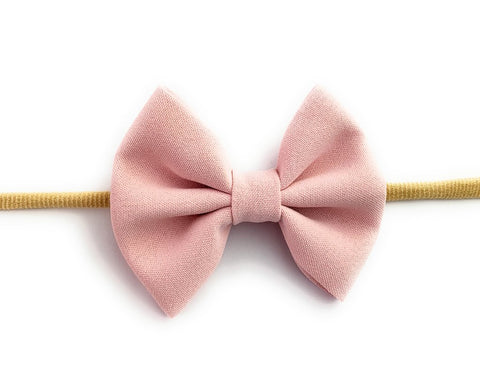 Baby Wisp Infant Headband Fanny Bow - Powder Pink - Let Them Be Little, A Baby & Children's Boutique