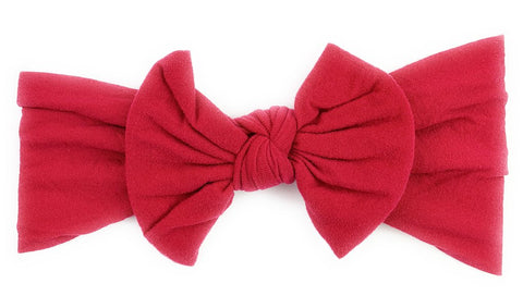 Baby Wisp Nylon Bow -  Deep Red