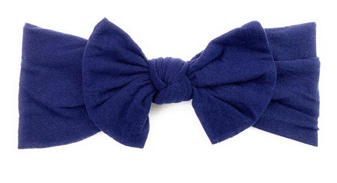 Baby Wisp Nylon Bow -  Navy - Let Them Be Little, A Baby & Children's Boutique