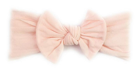 Baby Wisp Nylon Bow -  Pale Pink - Let Them Be Little, A Baby & Children's Boutique