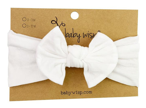 Baby Wisp Nylon Bow -  White