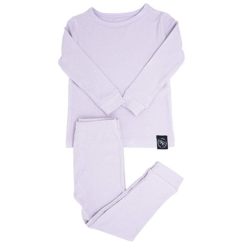 Sweet Bamboo Ribbed 2 Piece PJ Set - Orchid Hush