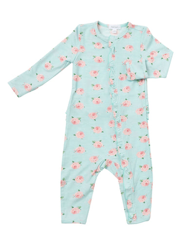 Angel Dear Ruffle Zip Romper - Petite Rose - Let Them Be Little, A Baby & Children's Boutique