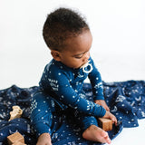 Brave Little Ones Muslin Swaddle - Brave Moon & Stars - Let Them Be Little, A Baby & Children's Boutique