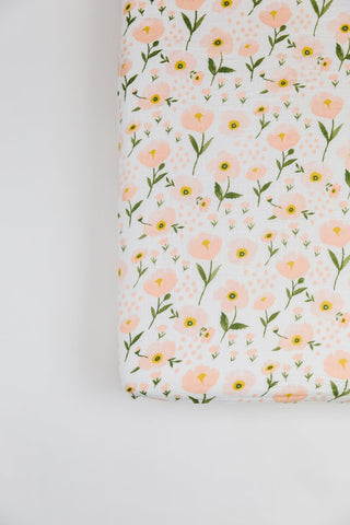 Clementine Kids Crib Sheet - Blush Bloom