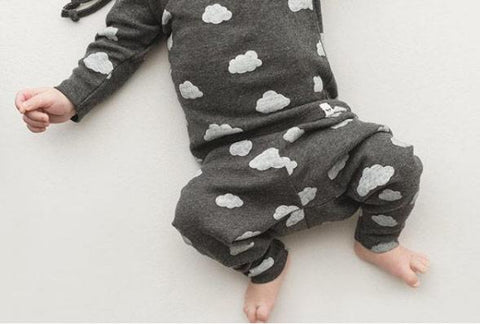 Oh Baby! Two Piece Set - All Over Clouds Charcoal