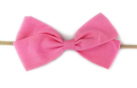Baby Wisp Emma Bow Infant Headbands  - Pink