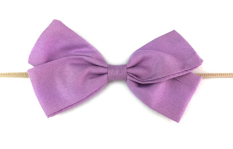 Baby Wisp Emma Bow Infant Headbands  - Lavender - Let Them Be Little, A Baby & Children's Boutique