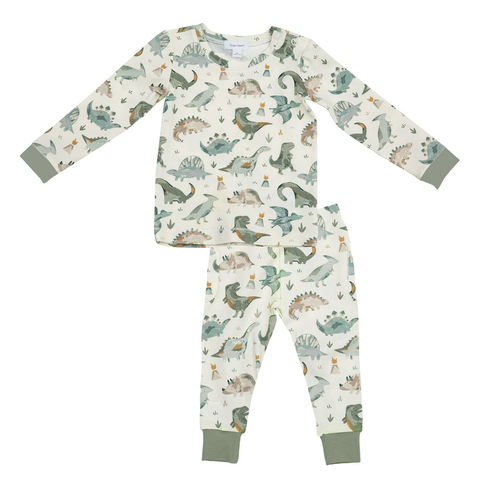 Angel Dear 2 Piece PJ Set - Crayon Dinos - Let Them Be Little, A Baby & Children's Boutique