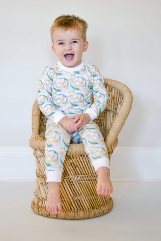 Velvet Fawn Long Sleeve PJ Set - Au Lait Coffee - Let Them Be Little, A Baby & Children's Boutique