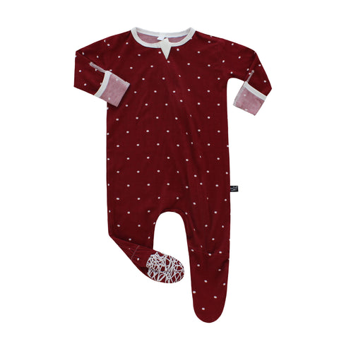 Peregrine Kidswear Bamboo Footed Sleeper - Winter Polkadot - Let Them Be Little, A Baby & Children's Boutique