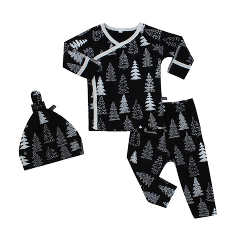 Peregrine Kidswear Bamboo Take Me Home Set - Winter Pines PREORDER - Let Them Be Little, A Baby & Children's Boutique