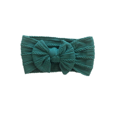 Poppy Knots Sweater Bow - Emerald - Let Them Be Little, A Baby & Children's Boutique