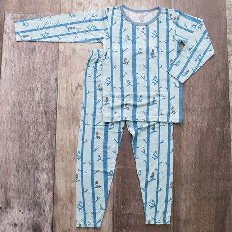 Bestaroo PJ Set - Tree Birds Blue