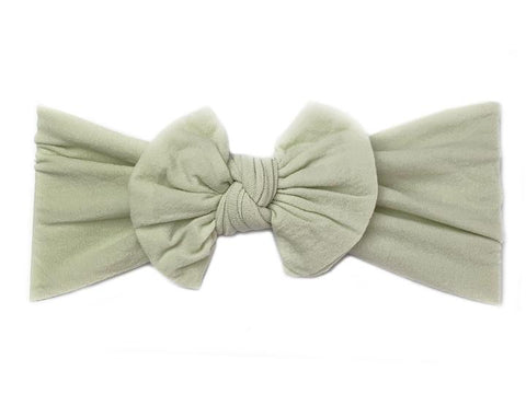Baby Wisp Nylon Bow -  Succulent - Let Them Be Little, A Baby & Children's Boutique