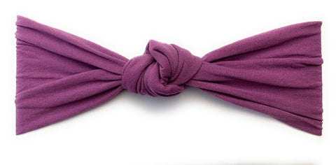 Baby Wisp Turban Knot - Midnight Mauve - Let Them Be Little, A Baby & Children's Boutique