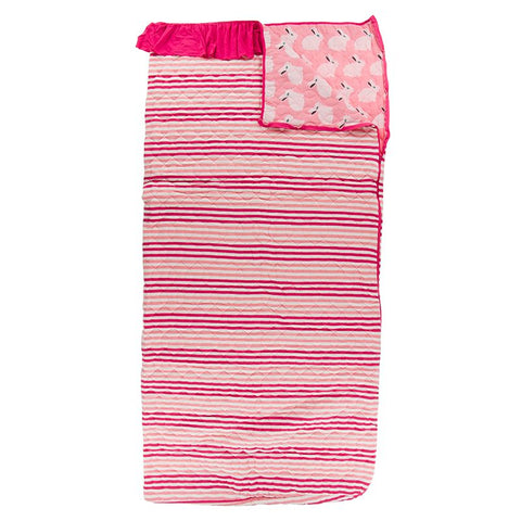 Kickee Pants Print Quilted Ruffle Sleepover Bag - Forest Fruit Stripe/Strawberry Forest Rabbit
