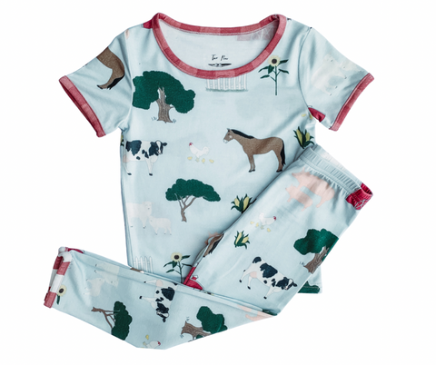 Two Peas 2 Piece PJ Set - E-I-E-I-O - Let Them Be Little, A Baby & Children's Clothing Boutique
