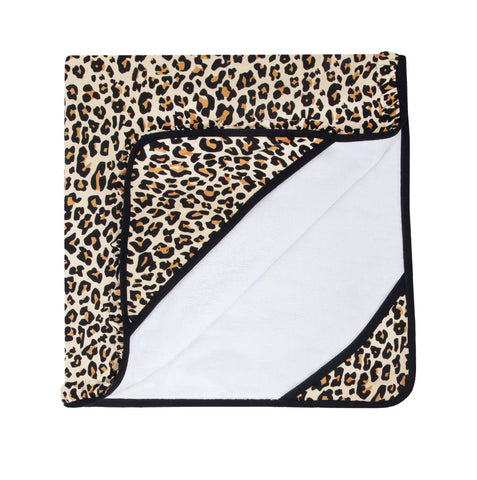 Posh Peanut Ruffled Hooded Towel - Lana Leopard - Let Them Be Little, A Baby & Children's Boutique