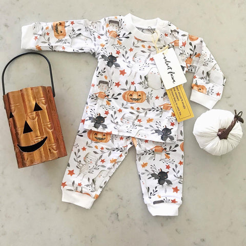 Velvet Fawn Long Sleeve PJ Set - Trick or Treat