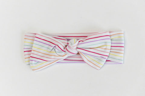 Macaron + Me Bow Headband - Candy Stripe - Let Them Be Little, A Baby & Children's Boutique