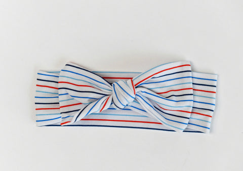 Macaron + Me Bow Headband - I LOVE Stripes - Let Them Be Little, A Baby & Children's Boutique