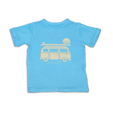 Silkberry Baby Bamboo Short Sleeve Tee - Surf