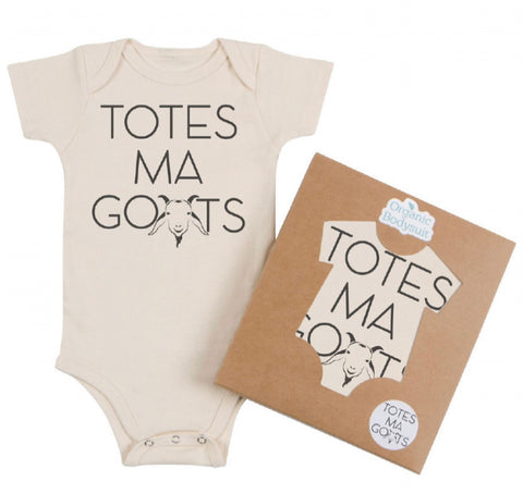 Morado Designs Organic Bodysuit/Tee - Totes Ma Goats - Let Them Be Little, A Baby & Children's Boutique