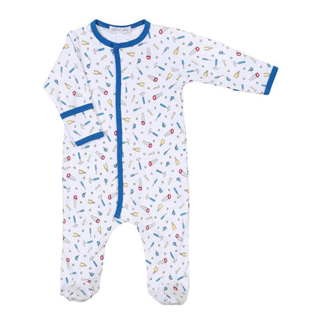 Magnolia Baby Printed Footie - Tooltime