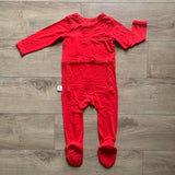 Kozi & Co Snap Footie - Solid Holiday Red