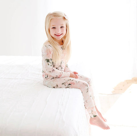 Posh Peanut 2 Piece PJ Set - Vintage Pink Rose - Let Them Be Little, A Baby & Children's Boutique