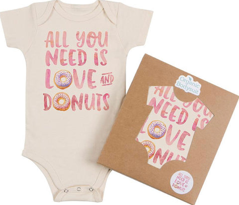 Morado Designs Organic Bodysuit/Tee - Love and Donuts - Let Them Be Little, A Baby & Children's Boutique