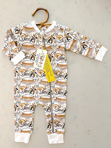 Velvet Fawn Game Day Zipper Coveralls - Who Dat Celebration - Let Them Be Little, A Baby & Children's Boutique