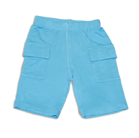 Silkberry Baby Bamboo Cargo Shorts - Surf