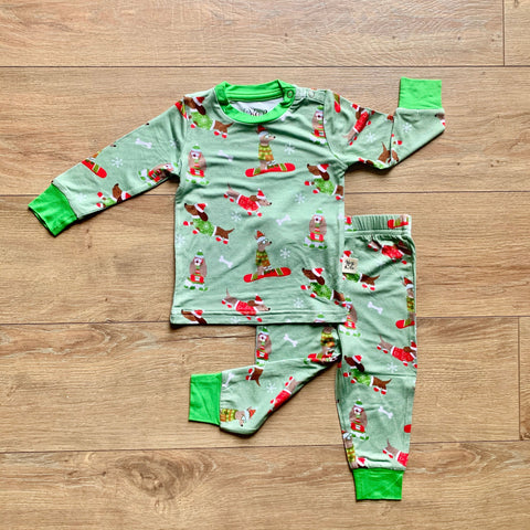 Kozi & Co Long Sleeve PJ Set - Snow Pups
