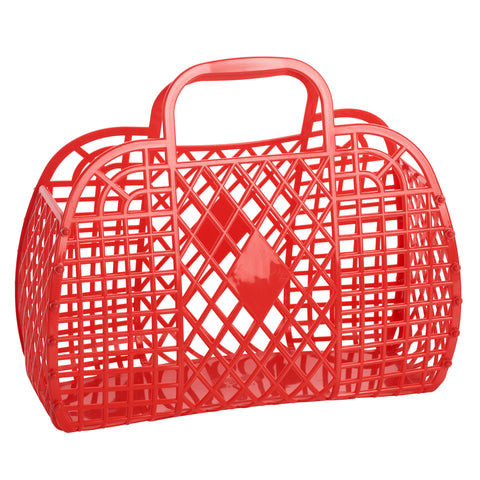Sun Jellies Retro Basket Large - Red - Let Them Be Little, A Baby & Children's Boutique