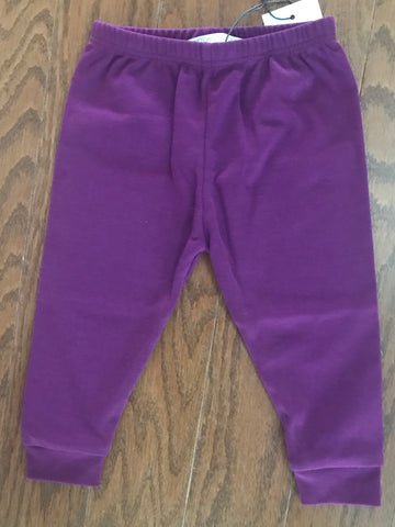 Cotton Bloom Pants - Plum