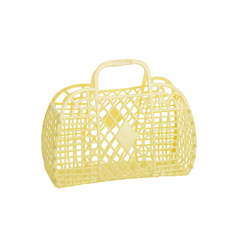 Sun Jellies Retro Basket Small - Yellow - Let Them Be Little, A Baby & Children's Boutique