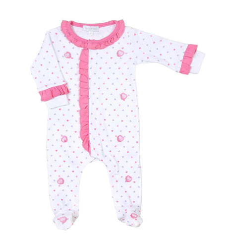 Magnolia Baby Ruffle Front Footie - Lil' Sweetheart