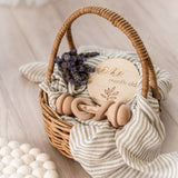 Kubbi & Co Keepsake Wooden Rattle - Let Them Be Little, A Baby & Children's Boutique