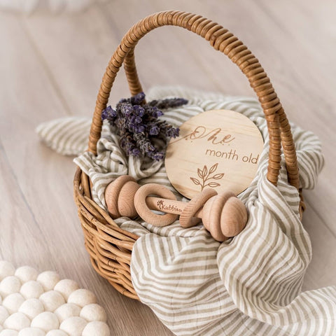 Kubbi & Co Keepsake Wooden Rattle